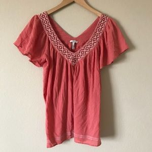 Joie V Neck Coral Top